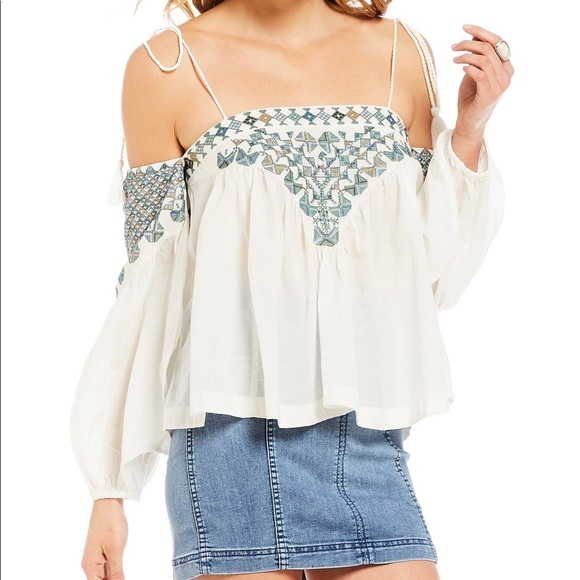 b8a8a80877d98 Free People vacay vibin cold shoulder top